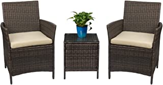 Devoko Patio Porch Furniture Sets 3 Pieces PE Rattan...