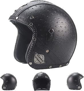 LieYuSport 3/4 Motorcycle Helmet,Retro Adults Half Helmet Motorcycle Quick Release Buckle Dirt Bike Cycling Bicycle Motocross Helmet Suits Men Women for Cruiser Chopper Moped-DOT Approved,Black,XL
