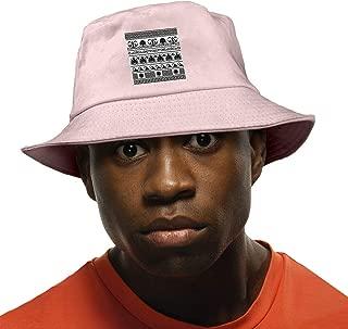 Fisherman's Hat Retro Greek Pattern Background Sun Hat for Men Summer Cap Fishing Hat Pink