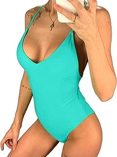 KIWI RATA 2019 Sexy One Piece Swimsuit Women Swimwear Female Solid Bikini Thong Backless Monokini Bathing Suit