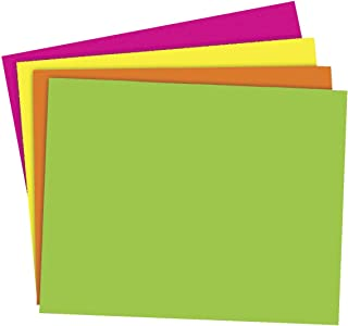 School Smart Poster Board, 11 x 14 Inches, Assorted Neon Color, Pack of 25