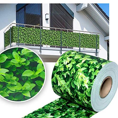 huigou HG® 65mx19cm Sichtschutz Streifen Stabmattenzaun Folie PVC UV-bestädig für Doppelstab Mattenzaun inkl. Befestigungsclips