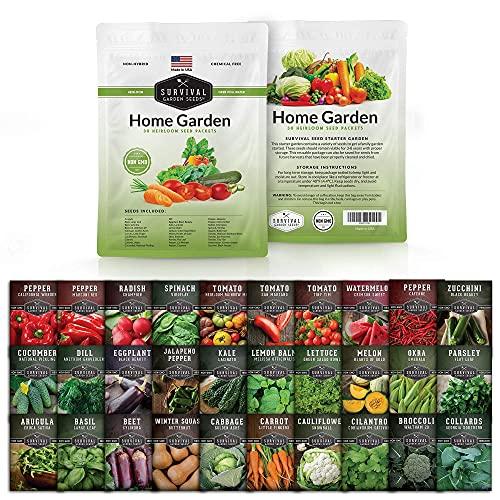 Survival Garden Seeds Home Garden Collection Vegetable Seed Vault -...
