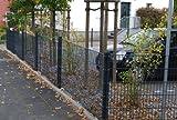 Zaun 25m Komplett-Angebot 1,83cm Höhe anthrazit Doppelstabmattenzaun, Gartenzaun, Metallzaun, Zäune, Tor, Gartentor,
