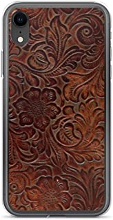 tooled leather phone case