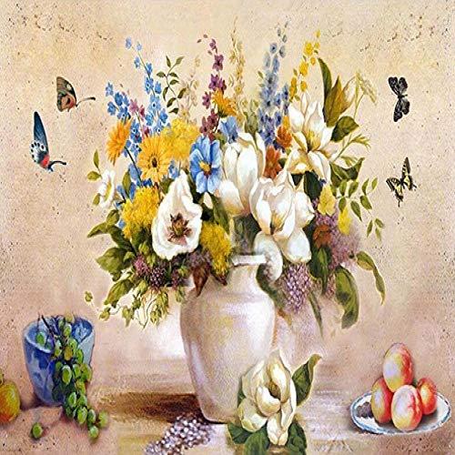 Diy Digital Painting Flower Canvas Bild Wohnzimmer Wandgemälde Ölgemälde Home Decoration Geschenk 50X40cm
