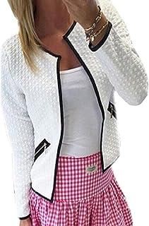 Women Classic Solid Biker Jacket Open Front Bomber Jacket Coat