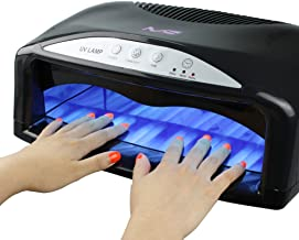 MelodySusie 54W UV Nail Lamp, Professional Quick Drying UV Gel Nail Polish Dryer with Detachable Tray, 3 Timer Setting, Fits 2 Hands or Feet at the Same Time, for Gel Polish, UV Resin, Polygel
