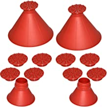 XMSSIT 2 Pack Ice Scraper Round Car Window Windshield Cone -Shaped 6.8″ Larger Coverage Diameter Snow Ice Scraper Funnel Removal Tool with 10 Ice Breakers