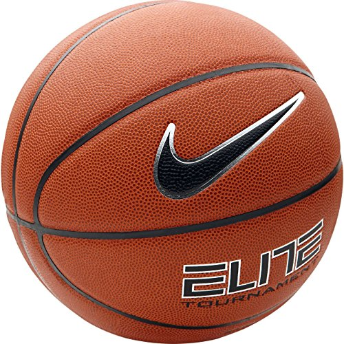 NIKE Basketball Elite Tournament 8 Panel, Amber/(Black-Platinum), 7, BB0401-801