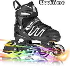 Woolitime Sports Adjustable Blades Roller Skates for Girls and Kids with Featuring All Illuminating Wheels, Safe and Durable Inline Skates, Fashionable Roller Skates for Women, Youth and Adults