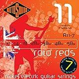 Rotosound R11-7 - Juego de cuerdas para guitarra eléctrica de níquel, 11 14 18 28 38 48 58