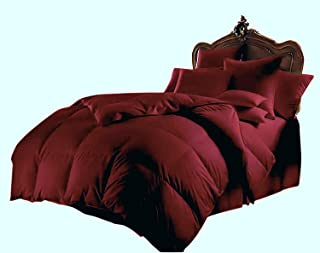 Namira Bedding Ultra Soft 1PC All Season Down Alternative Comforter, Breathable-Egyptian Cotton, 300 GSM-Box Stitched-Duvet Insert/Stand Alone Comforter, Cal. King, Burgundy, 90'' x 106''