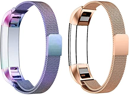 COOLEAD Fitbit Ace Band, Replacement Strap for Kids Fitbit, Stainless Steel Fitness Tracker Bands for Fitbit Alra/Alta HR/Ace, Small Size 4.7- 7.0 for Kids Women