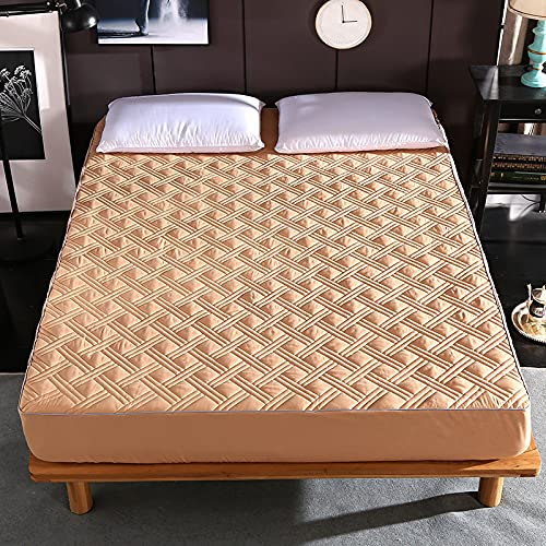 YDyun No-Iron Bottom Sheet with Strong Elastic Hem to Fit Snugly Around Your Mattress Cotton protective cover non-slip thin mattress cover