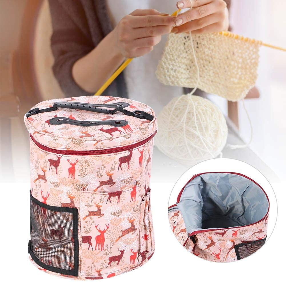 Crochet Bag wear-Resistant Lightweight Waterproof Bicaquu Yarn Case Super Environmental Protection Convenient Sewing Tool Accessories