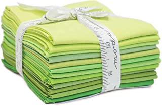 Bella Solids Greens 12 Fat Quarters Moda Fabrics 9900AB 123
