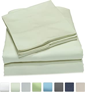 Callista King Size Bedding Sets |100% Cotton| Extra Soft Sateen|Deep Pocket | 600 Thread Count Easy fit, Breathable and Cooling Sheets |Luxury King 4 Pc Bed Set - Ivory