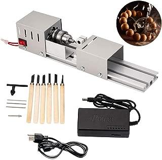 Cozyel Mini wood Lathe Beads Polisher CNC Machine DIY Woodworking tools mini lathe wood lathe tools 12-24V 100W