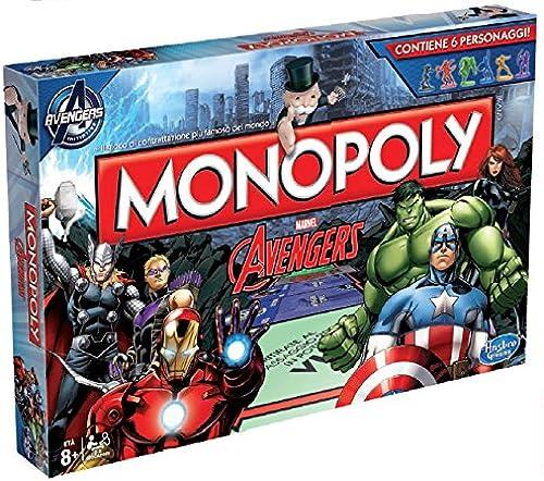 Hasbro Monopoly Set de Table avec Motif Avengers b0323 Version Italienne MultiCouleure