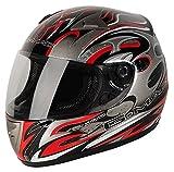 G-Mac - Casco Moto Scirocco, Nero/Rosso, XS