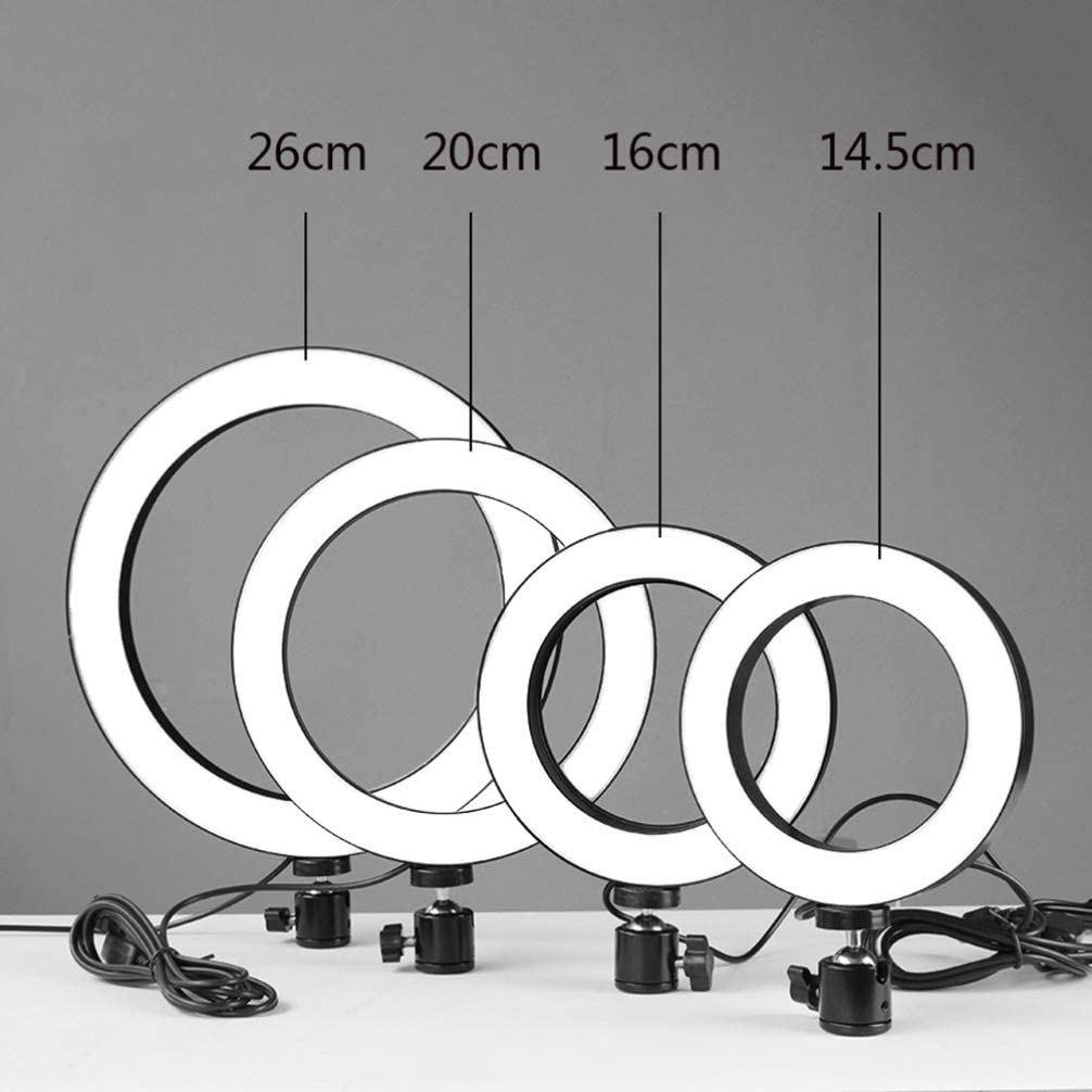Black Mobestech Ring Light Dimmable Led Ring Light Stand Photo Camera Self Shooting 5 in 1 14.5cm