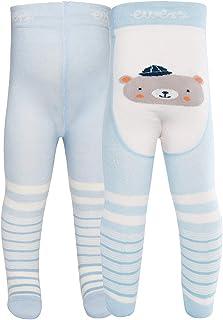 Ewers Baby- und Kinderstrumpfhose für Jungen Pomotiv Bär, Made in Europe, Strumpfhose Baumwolle