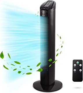 Grunkel TF-RC SILENCE Tour de ventilation avec angle d'oscillation automatique 90o, minuterie jusqu'à 7,5 heures, 3 vitess...