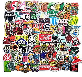 makstore Lot de 100 Autocollants Rock and Roll Band Musique pour Ordinateur Portable Voiture Moto v/élo Graffiti Patches Skateboard /étanche