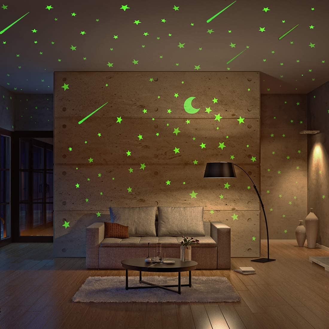 Realistic Glow in shop The Over item handling ☆ Dark and 500pcs Stars Moon