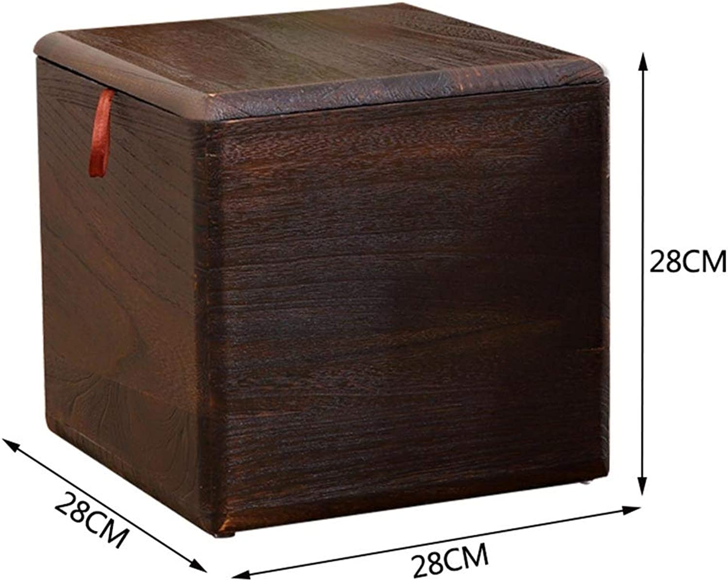 Tingting-Stools, Multifunction Can Sit Toy Sundries Living Room Bedroom Storage Footrest (color   Brown, Size   28  28  28)