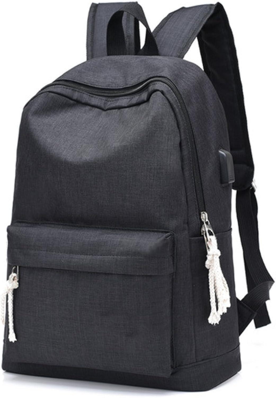 Oxford Cloth 35L Double Shoulder Backpack Large Capacity Backpack Student Bag Leisure Laptop Bag,Black