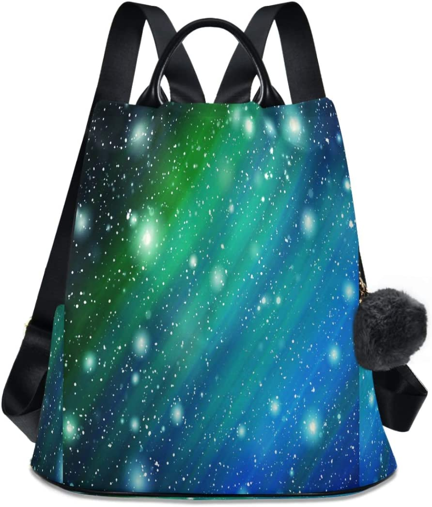 ALAZA Galaxy Twinkled Constellation shipfree Backpack Year-end annual account Purse Anti-theft Ca