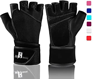 RIMSports Weight Lifting Gloves with Wrist Support Comfort Padded Workout Gloves with..