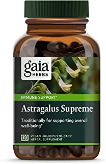 Gaia Herbs Astragalus Supreme, Vegan Liquid Capsules, 120Count - Deep Immune Support & Stress Resistance, With Antioxidants