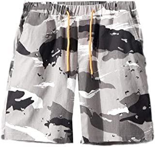 MogogN Mens Drawstring Camouflage Color Summer Relaxed-Fit Sport Shorts Trunks