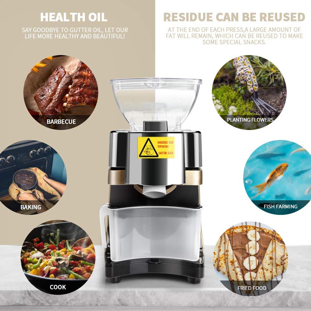 S SMAUTOP Máquina de prensa de aceite Extractor de aceite de nuez ...