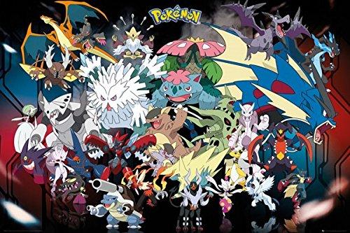 Laminiert Pokémon Mega Evolution Poster. Offiziell lizenziert