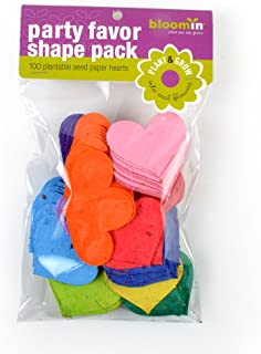 Bloomin Seed Paper Shapes Packs - Heart Shapes - 100 Shapes Per Pack - 2.3x1.8