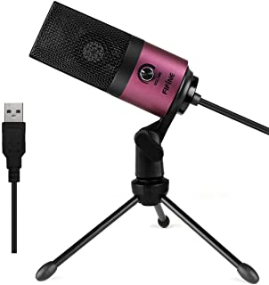 Fifine Usb Podcast Condenser Microphone Recording On Laptop No Need Sound Card Interface and Phantom Power.(K669)