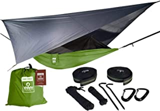 Oak Creek Camping Hammock and Accessories. Complete Package Includes Mosquito Net, Rain Fly, Tree Straps and Portable Ligh...