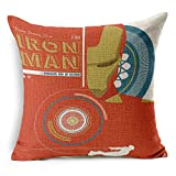 CHICOZY Cotton Avengers Alliance Batman Captain America Iron Man Hulk Pillow Cover Ikia Style Sofa Cushion Cover Square Home Decration Pillowcase 17.7inch x 17.7inch