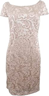 Womens Sequined Cocktail Sheath Dress