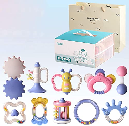 Hand Bell Rassel Baby Neugeborenen Molaren Spielzeug - Babyrassel und Spielzeug Geschenkset (Farbe   C)
