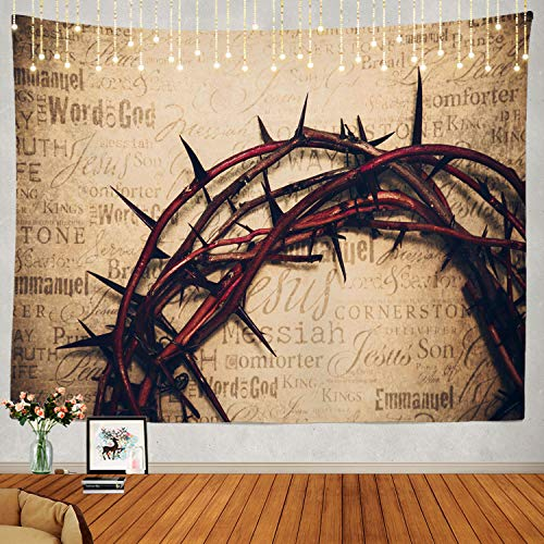 Shrahala Jesus Tapestry Jesus With Thorns Wall Hanging Large Tapestry Psychedelic Tapestry Decorations Bedroom Living Room Dorm 51 2 X 59 1 Inches Multi Buy Online In Botswana At Botswana Desertcart Com Productid 158182027
