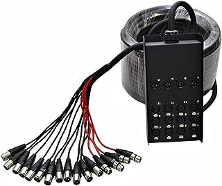 Seismic Audio SACB-12x4x100 12-Channel XLR Low Profile Circuit Board Snake Cable, 100-Feet
