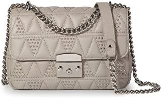 Quilted Leather Crossbody Bags For Women Designer Shoulder Handbags Purse With Metal Chain Strap