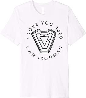 Avengers Endgame Iron Man I Love You 3000 Quote Circle Logo Premium T-Shirt