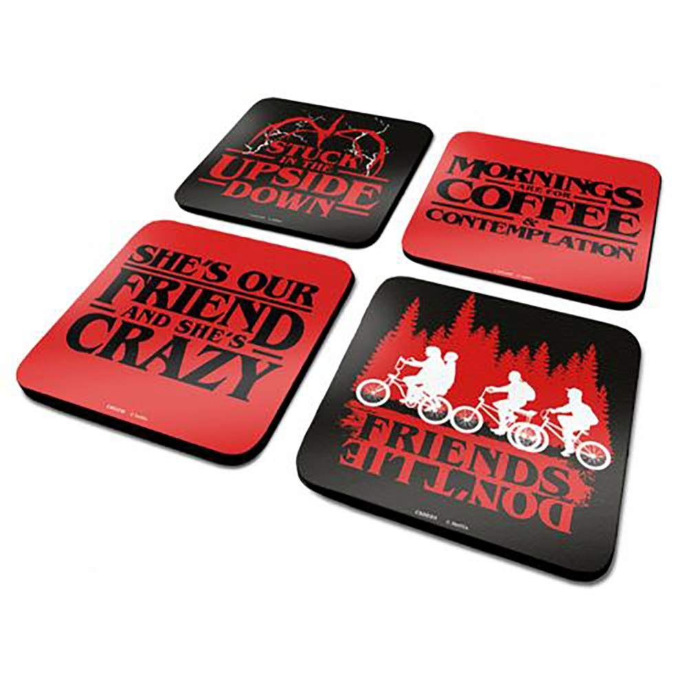 Official Licensed Stranger Things - Coaster Set (4 Pack): Amazon.es: Deportes y aire libre