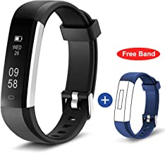 HolyHigh Smart Watch Fitness Band, Waterproof Fitness Tracker Watch for Men Women Kids Step Counter Claroie Counter Messages Call Reminder Alarm Clock Camerol Shoot